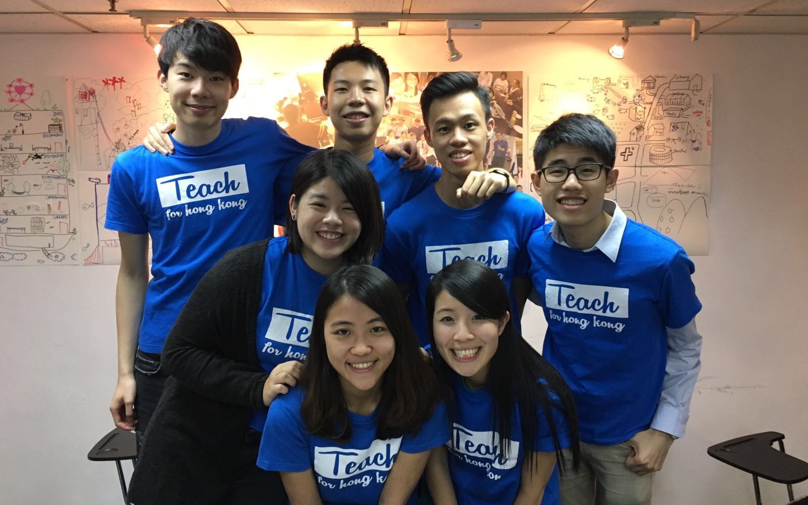 Arnold with his team at Teach for Hong Kong