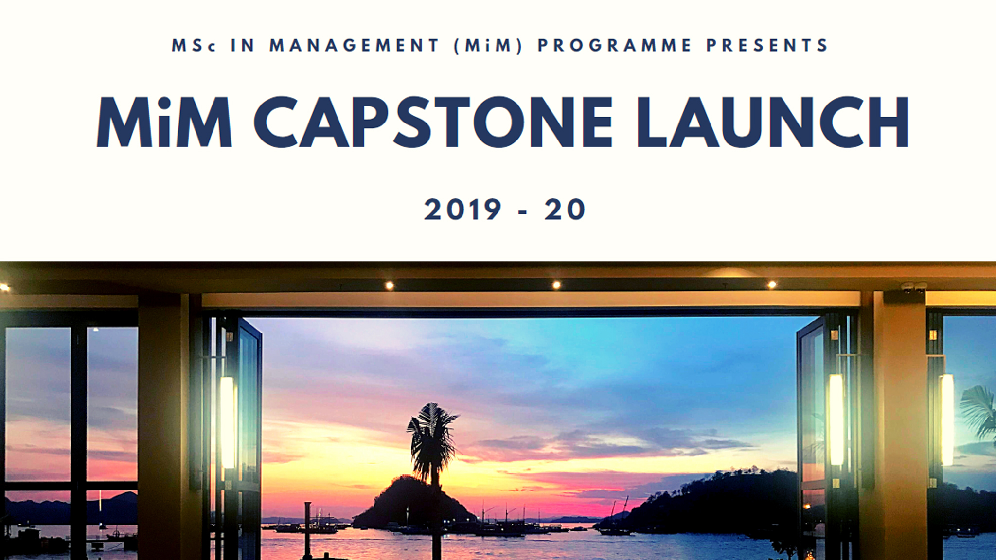 CUHK Business School MiM Capstone Case Launch
