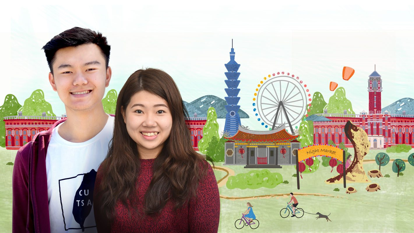 Taiwanese students James Lee and Jenny Ou Yang